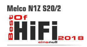 Melco N1Z S20/2: Best of Hifi 2018-Award