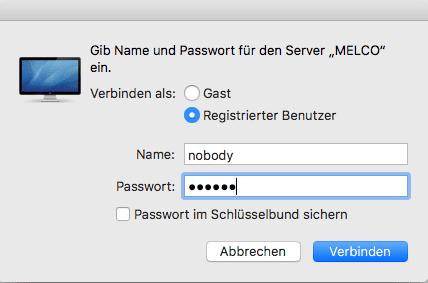Netzwerkzugriff auf Melco unter Firmware 3.90