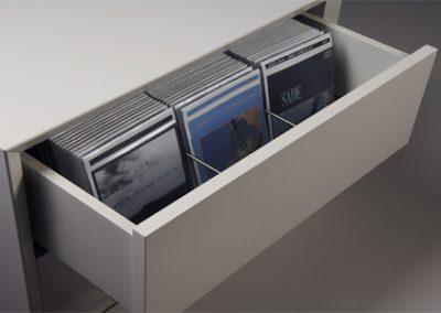 Schublade für DVDs
